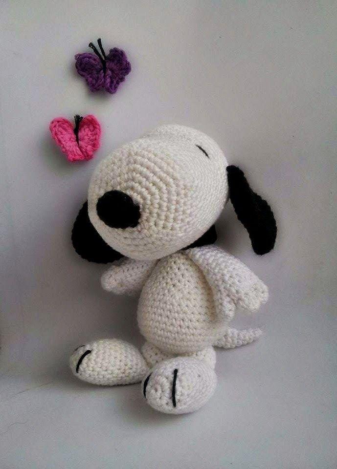 Amigurumi Patterns Snoopy : Amigurumi Snoopy - FREE Crochet Pattern / Tutorial ...