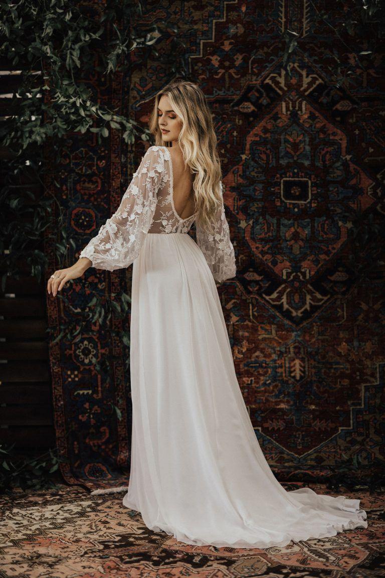 3d Cotton Lace And Silk Chiffon Flowy Wedding Dress Silk Chiffon Wedding Dress Wedding Dress Sleeves Wedding Dress Long Sleeve [ 1152 x 768 Pixel ]
