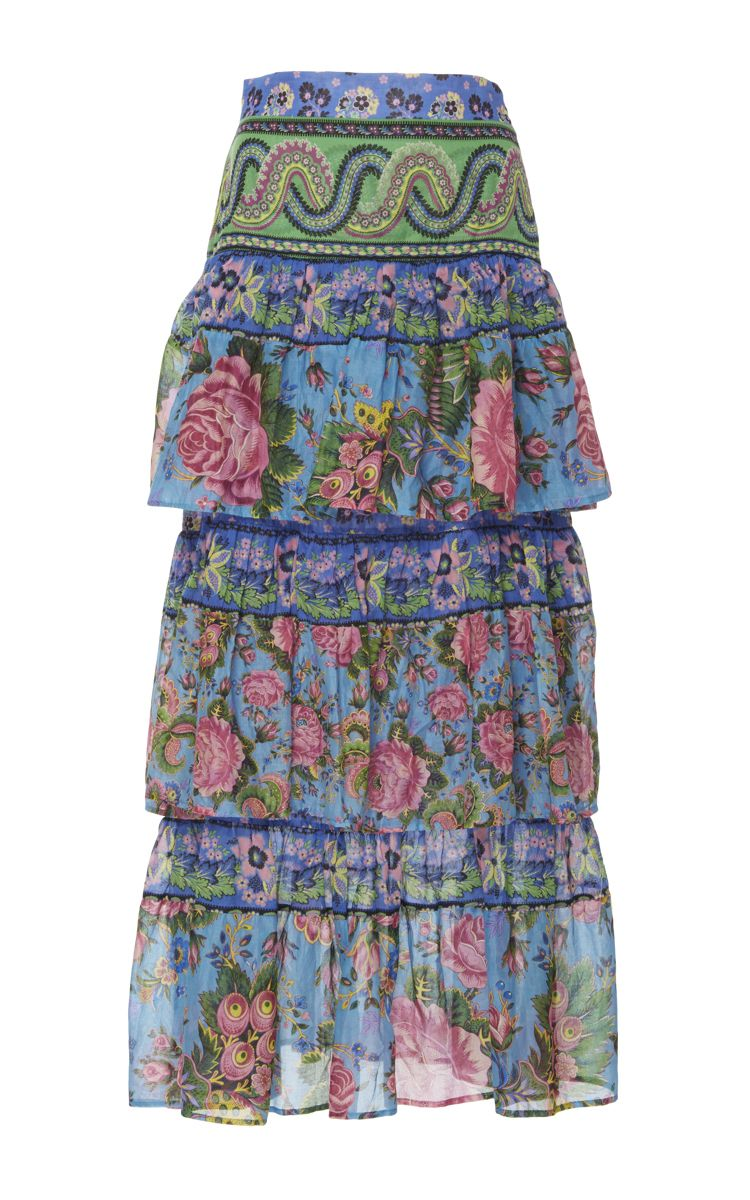 8d8b3c232f0 Candy Tiered Floral Skirt by ANJUNA for Preorder on Moda Operandi