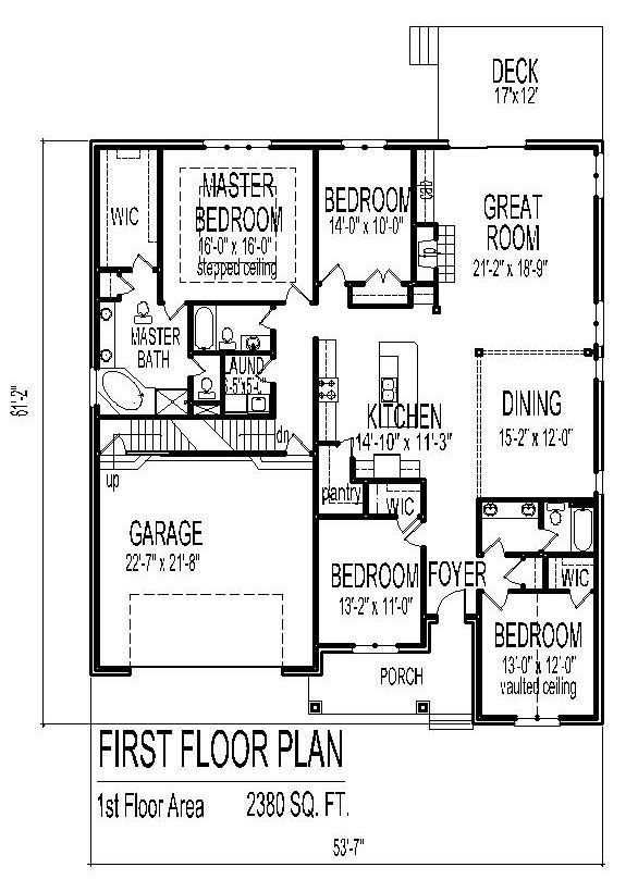 Simple 1 Story 3 Bedroom House Plans With Bonus Entry From Garage And Half  Basement