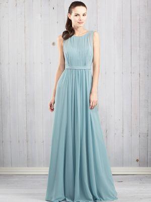 For outdoor GARDEN wedding bridesmaid long dress thats elegant