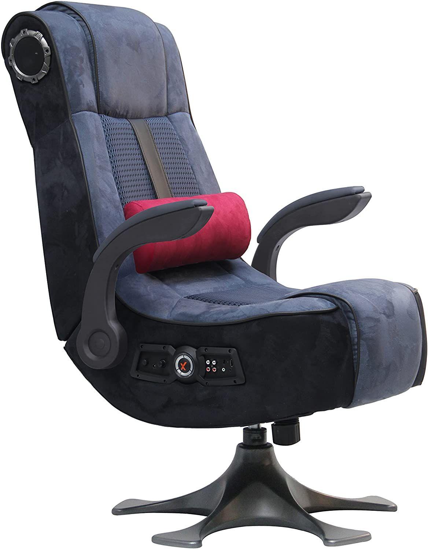 X Rocker Pro 2 1 Wireless 4 Speaker Pedestal Video Gaming Chair Pedestal Base High Tech Audio In 2020 Gaming Chair Pedestal Rocker Chairs