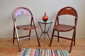 Chaises pliantes Thonet chaises de secours vintage rétro