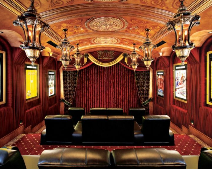 7 Chic Home Theaters Even Better Than the Cinema | LuxeDaily ...