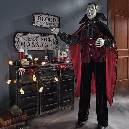 Animated Life Size Dracula Vampire Halloween Figurine Holidays - life size halloween decorations