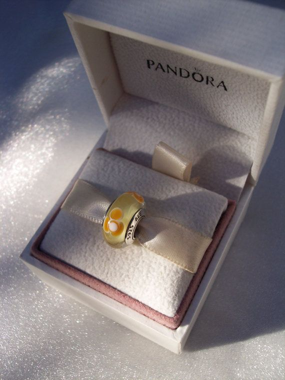dcc8e1d32 Authentic Pandora Orange Flowers For You Murano by JEWELSELAGANT, $25.00