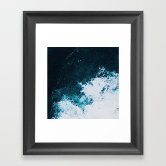 Wild ocean waves II Framed Art Print by Lostfog Co↟. Worldwide shipping available at Society6.com. Just one of millions of high quality products available.