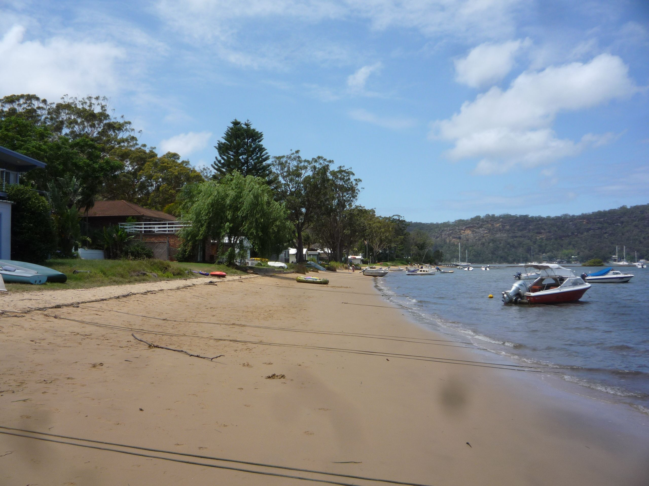 One of the beach of Dangar island, Hawkesbury river