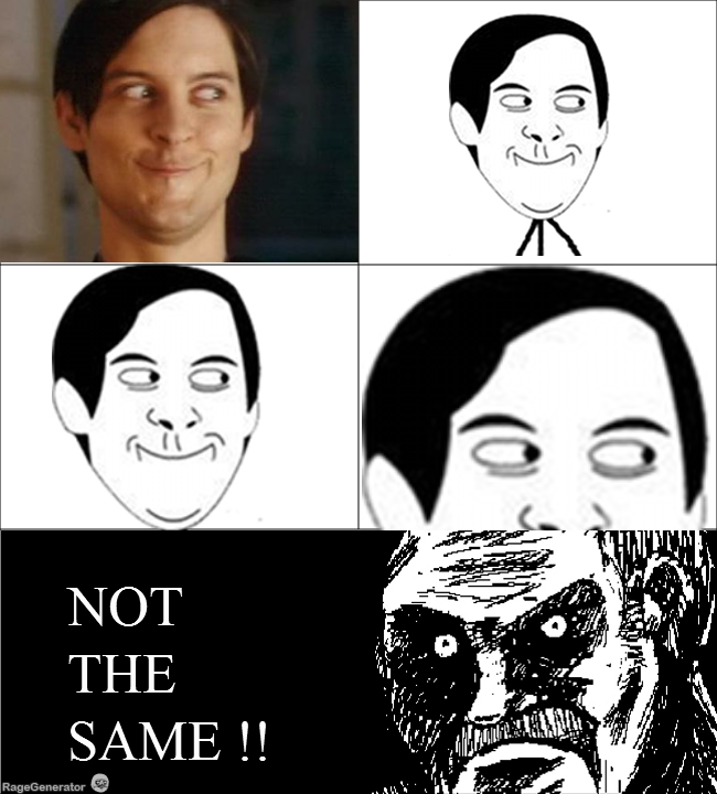 yep. that face will never get old Spiderman 3, Spiderman