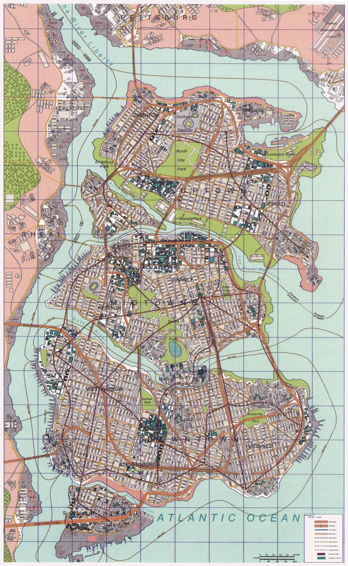 Nolan Gotham Map Gotham The city planners must have been drunk when ...
