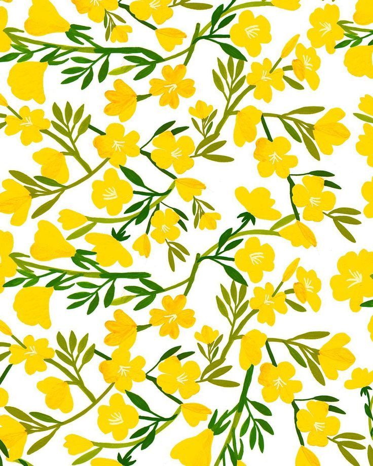 yellow floral pattern - photo #14