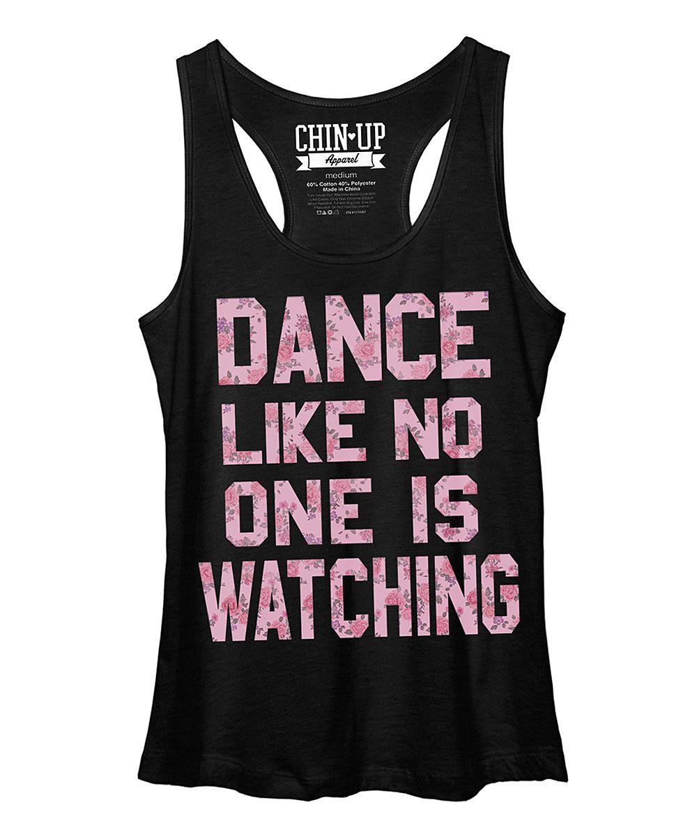 Chin Up Apparel Black Heather Dance Racerback Tank - Women | zulily