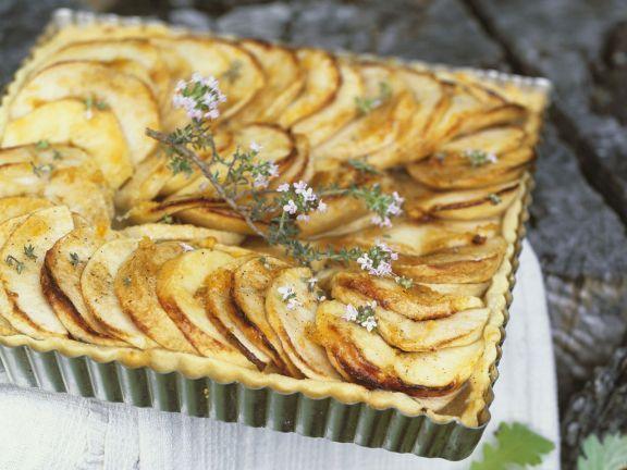 Apfel-Thymian-Tarte ist ein Rezept mit frischen Zutaten aus der Kategorie Tarte. Probieren Sie dieses und weitere Rezepte von EAT SMARTER!