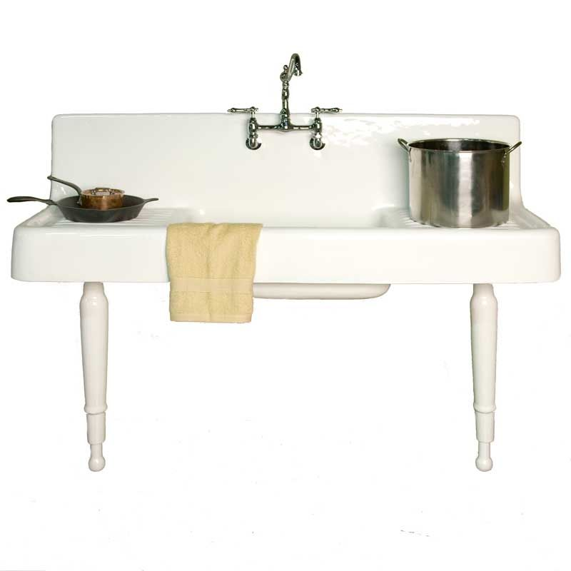 Freestanding Farmhouse Cast Iron Sink And Drainboard.   Google Search