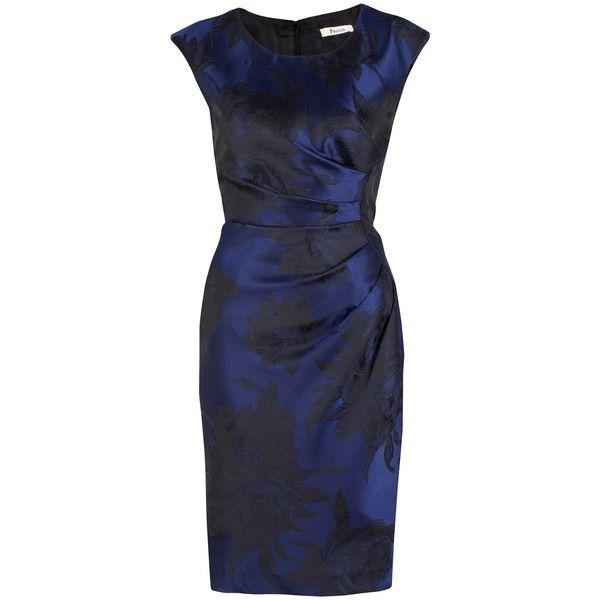 Precis Petite Navy jacquard occasion dress (€70) ❤ liked on Polyvore