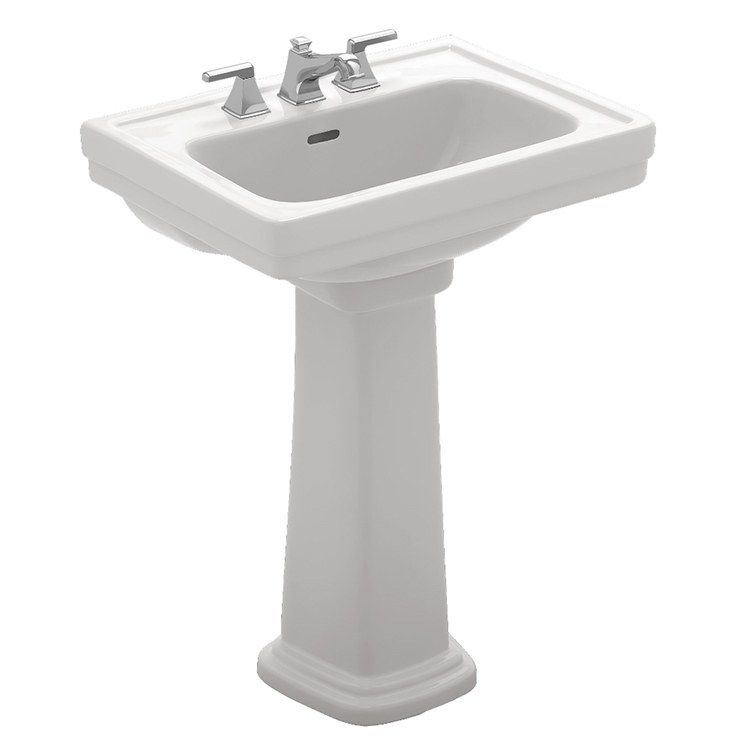 Promenade 24 Pedestal Bathroom Sink With One Hole Sink