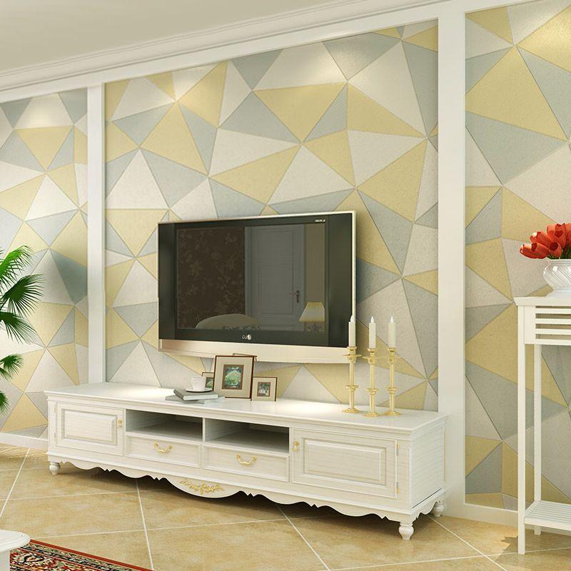 3d Imitation Leather Texture Wallpaper Waterproof Modern Tv