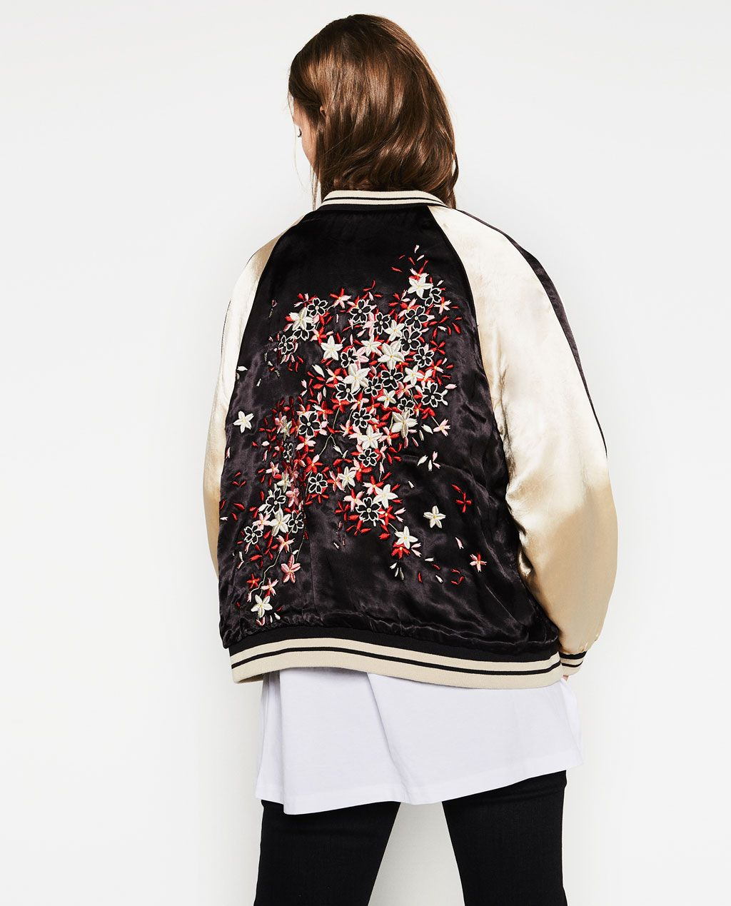 Oriental-FLORAL-EMBROIDERED-BOMBER-JACKET-Womens-Embroidery-Satin-
