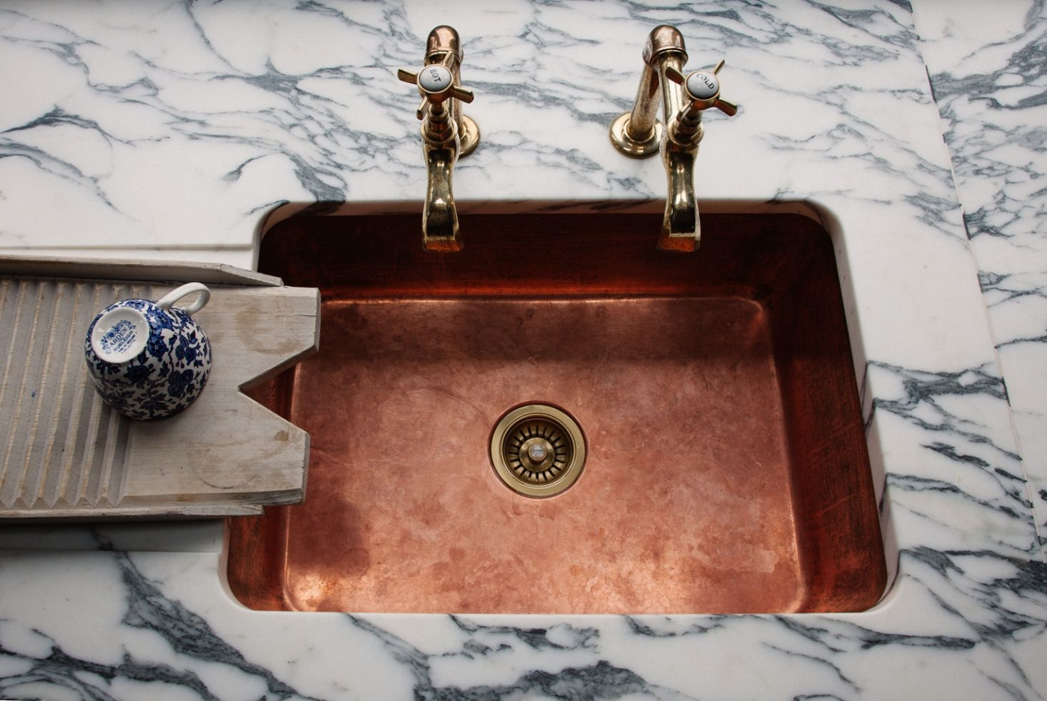 kitchen of the week a historic kitchen in shropshire recast in monochrome green copper on kitchen sink id=57522
