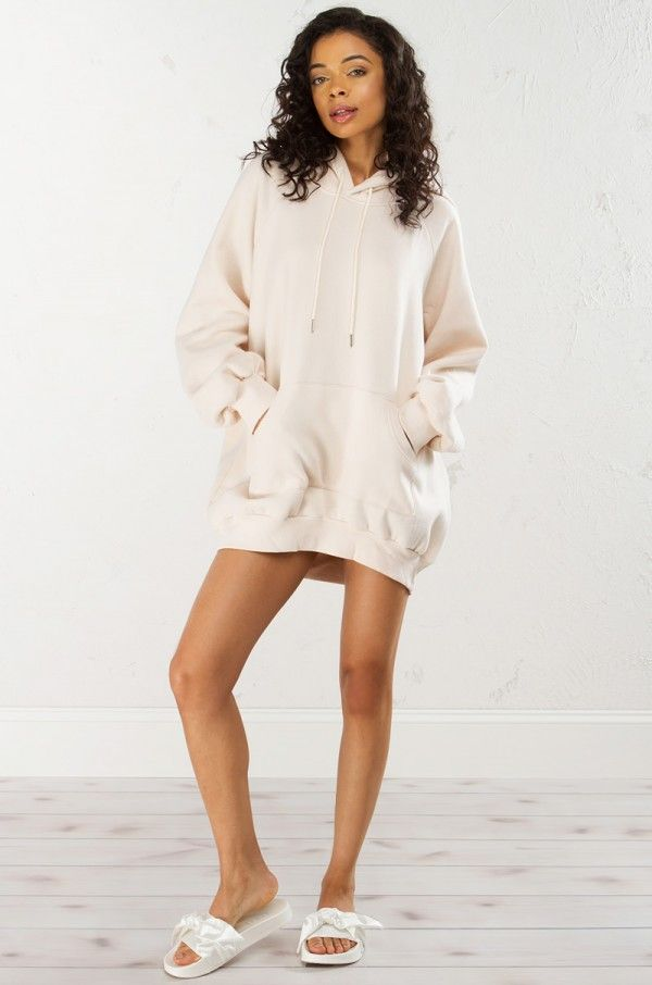 d3f703c3fd25 BACK TO BACK OVERSIZE HOODIE DRESS
