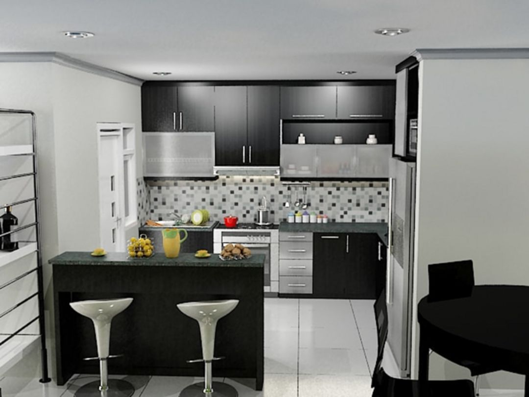 Mini Bar Kitchen Ideas Dengan Gambar Desain Dapur Dapur