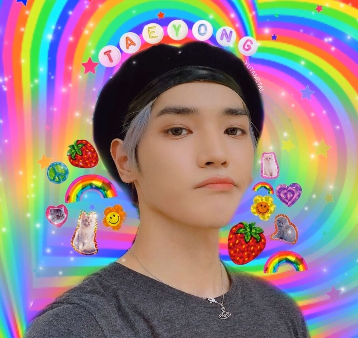 #𝗵𝗮𝗿𝘂𝗺𝘂𝗻𝗶༉ ₊˚ in 2020 | Rainbow aesthetic, Taeyong, Nct