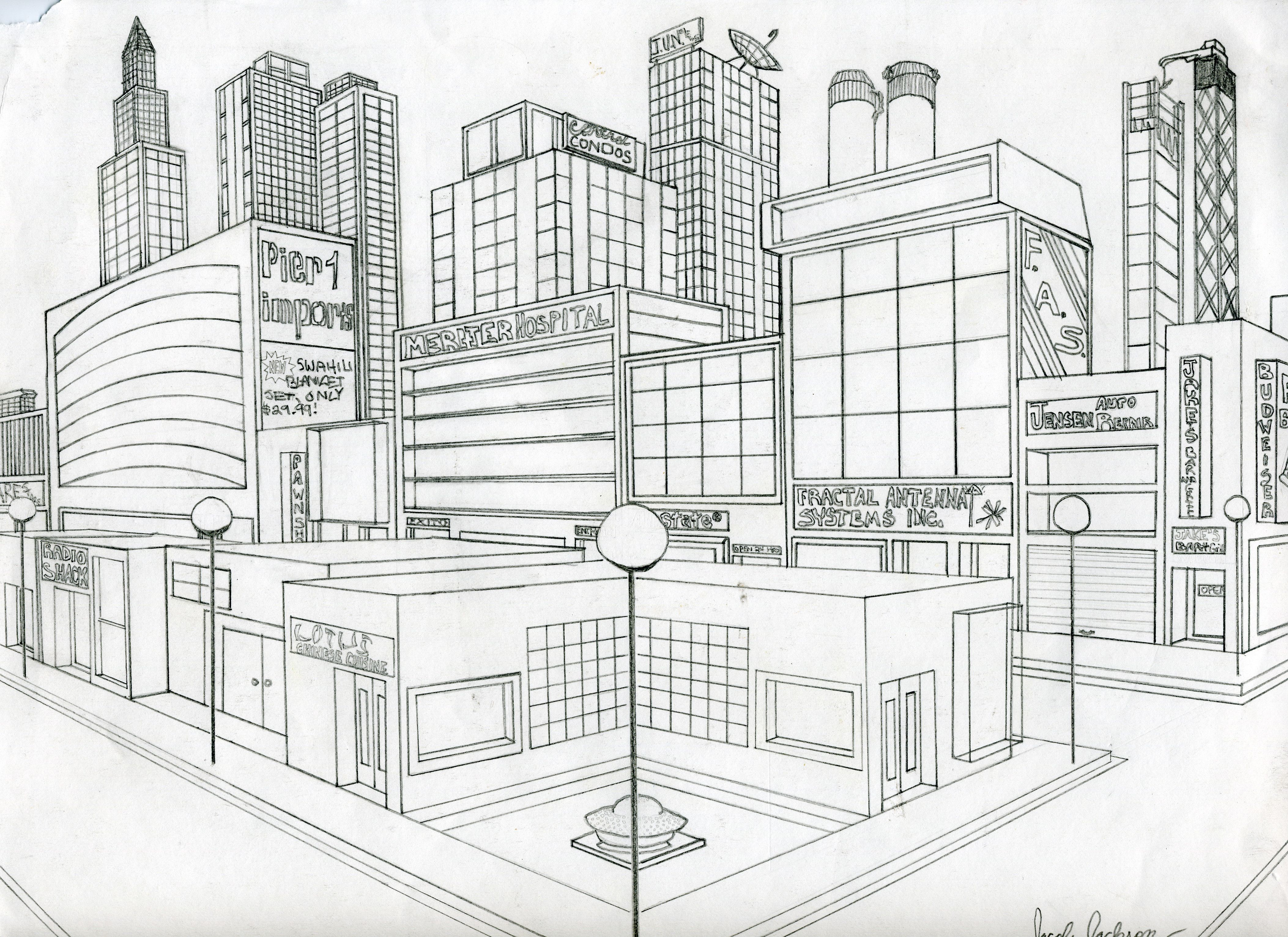 I Like This Two Point City Scape Because It Is Nice And