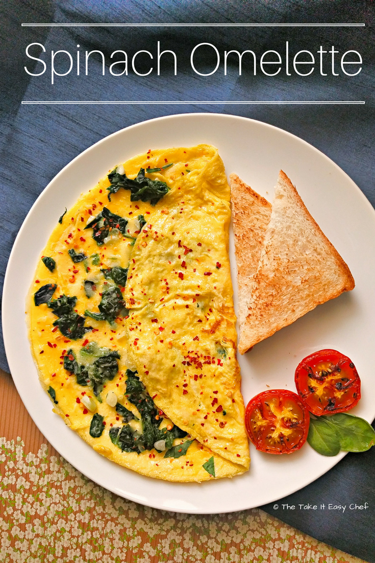 How to make a easy spinach omelette