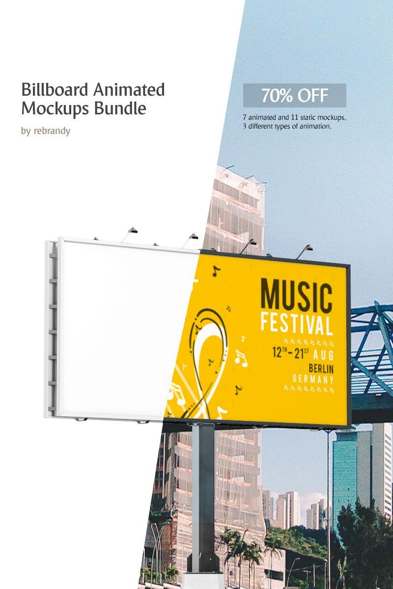Billboard Animated Mockups Bundle | Beauty Websites Design