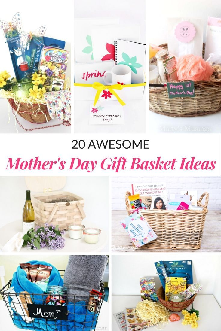 AWESOME MOTHERS DAY GIFT BASKET IDEAS | Basket ideas, Gift and Adult ...