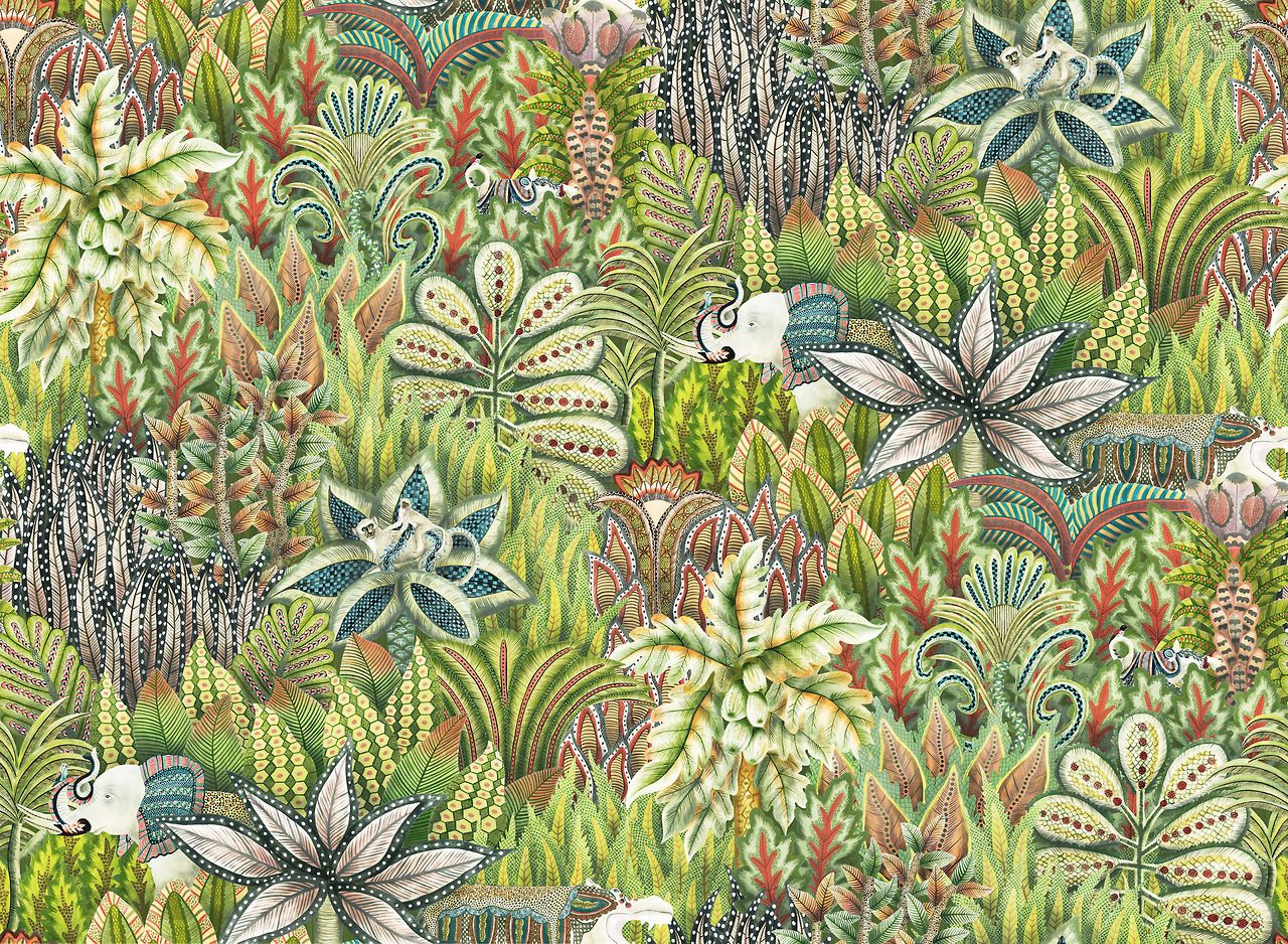 Indian patterns_Nature 43_mbf Cole, son wallpaper, Cole