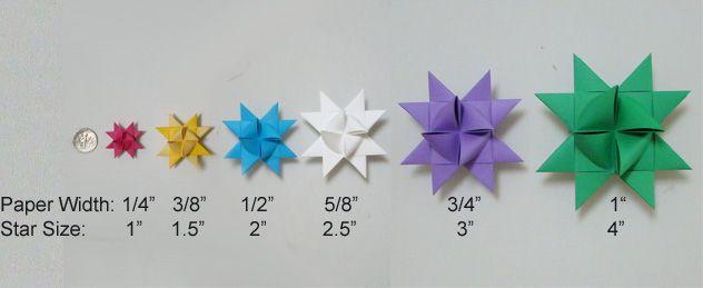 Moravian Star Paper Strips