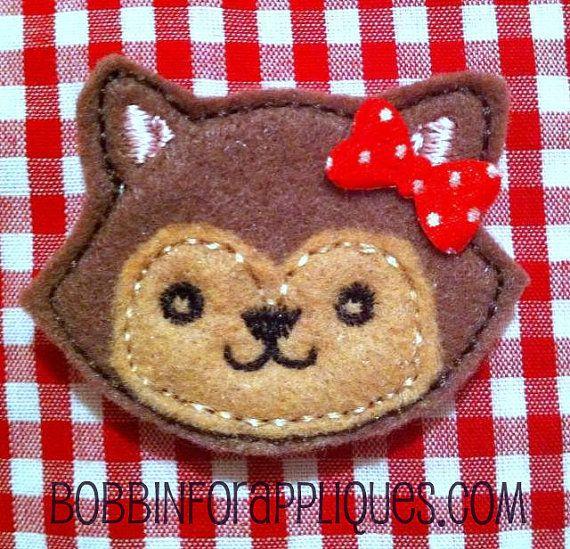 Applique Layered Fox Feltie Embroidery Design by Bobbin4appliques, $4.00