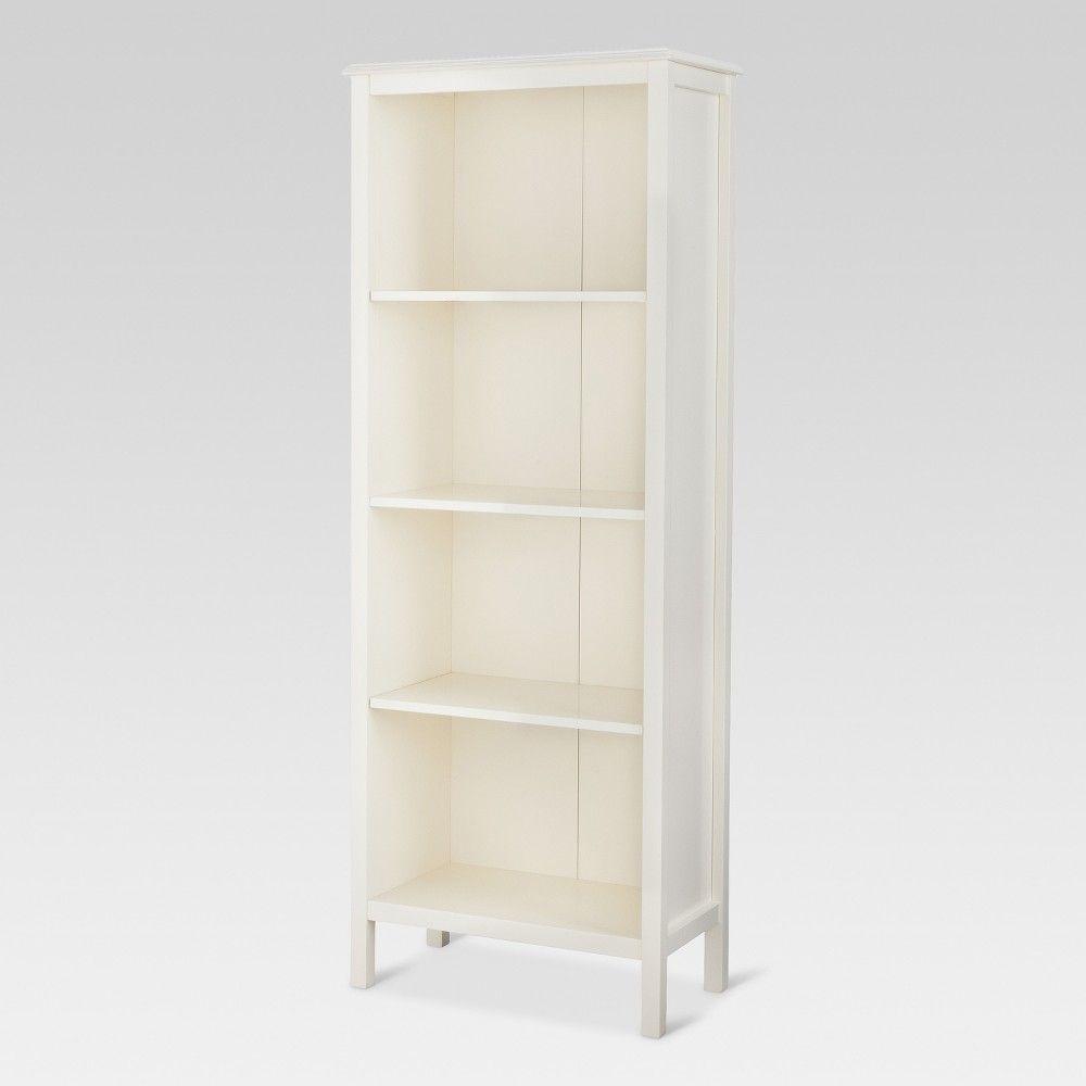 60 Windham 4 Shelf Bookcase Shell Threshold White 4 Shelf