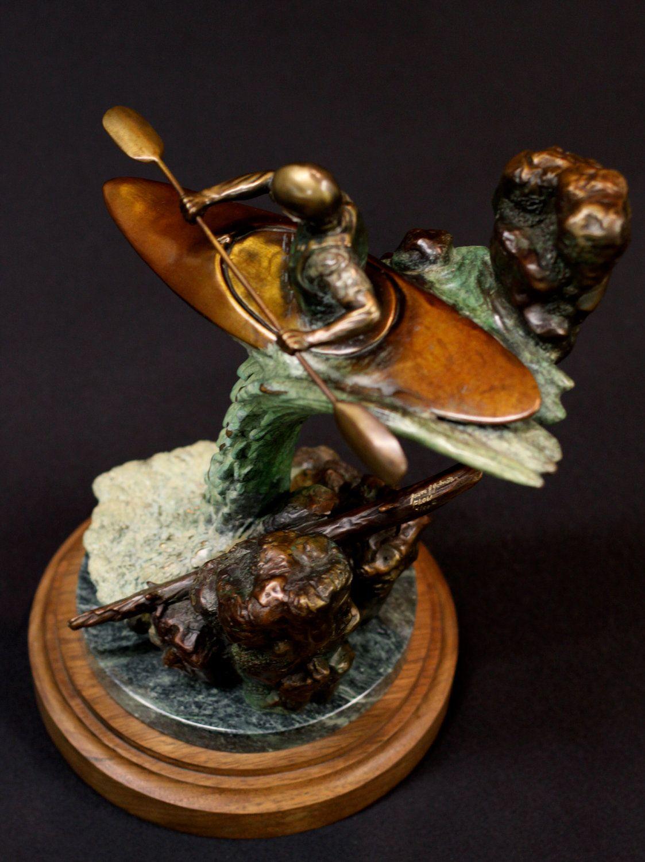 """Flow, bronze sculpture, edition 50,15""""x10"""". $2,600.00, via Etsy."""