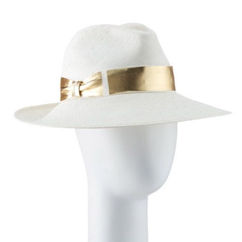 JAGGER large fedora, natural-gold from TRACY WATTS