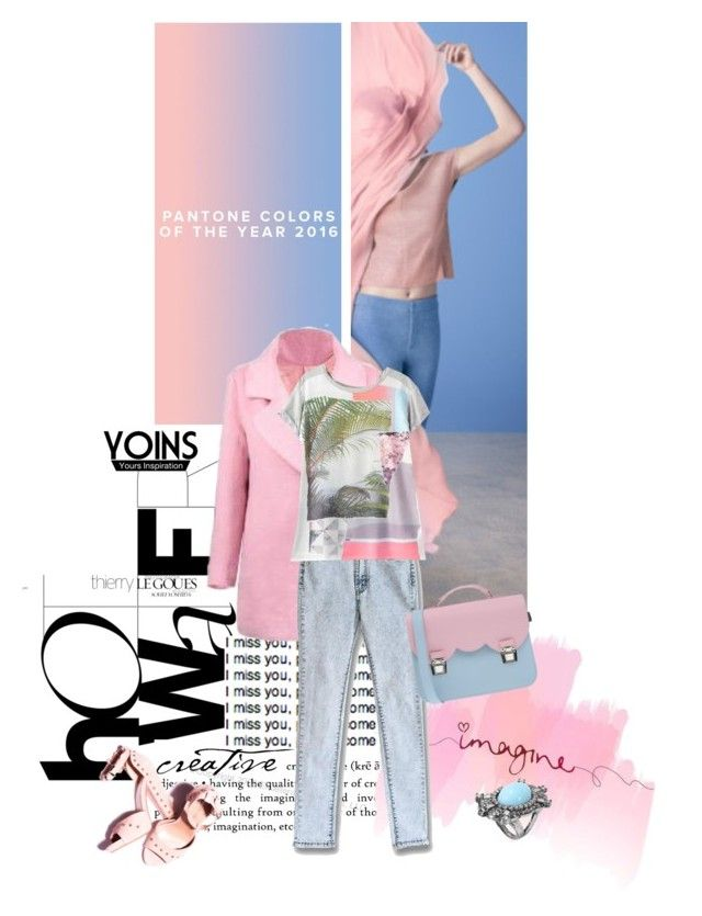 """""""Stylish with Yoins"""" by lacas ❤ liked on Polyvore featuring La Cartella, women's clothing, women's fashion, women, female, woman, misses, juniors, yoins and pantone2016"""