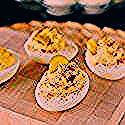 'Deviled Egg' Cake Balls ~ Weekend Potluck #268 - #Balls #cake #Deviled #Egg #Potluck #weekend #deviledeggs
