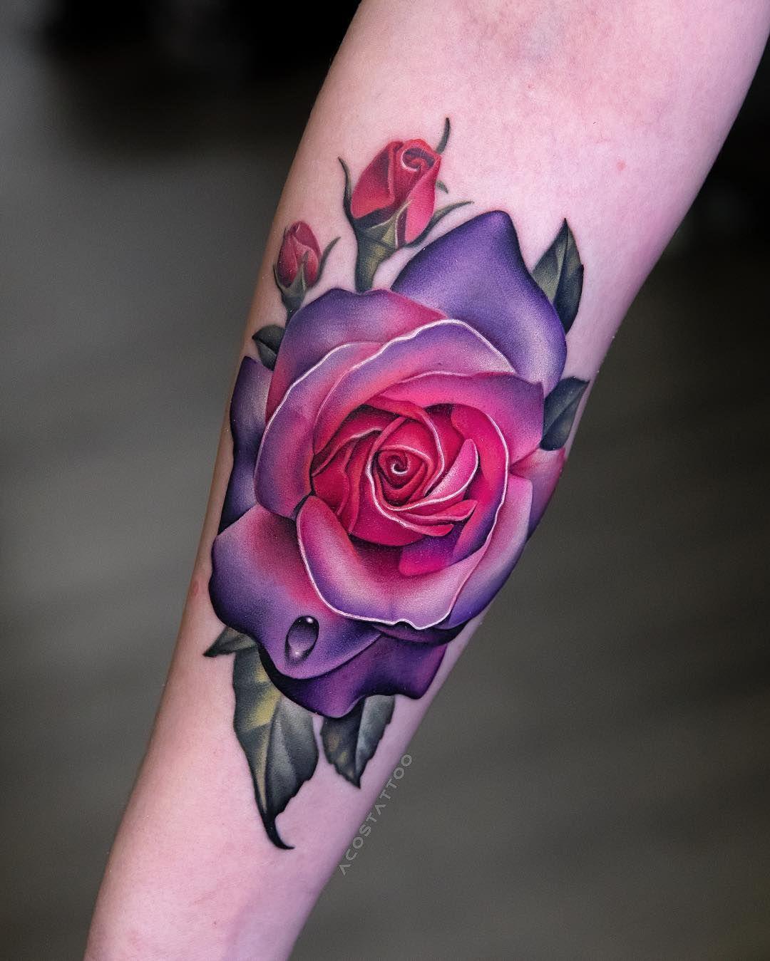 Frau rosen tattoo Tattoo Ganzer
