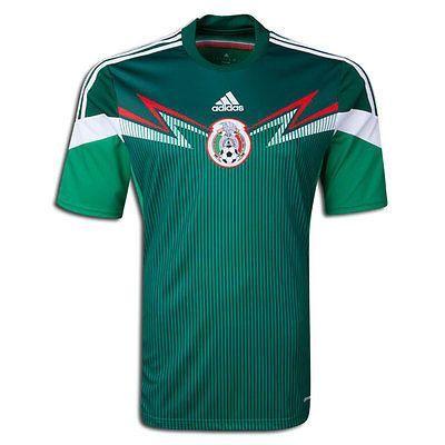06a0dea539053 ADIDAS MEXICO HOME JERSEY FIFA WORLD CUP BRAZIL 2014 SELECCION MEXICANA DE  FUTBOL. Viva Mexico! Show your support for El Tri in 2014 with this  official home ...