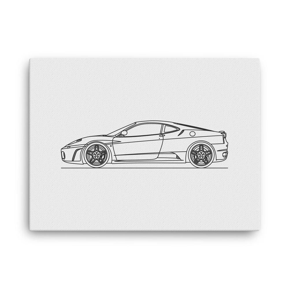 F minimal line art canvas canvases and products