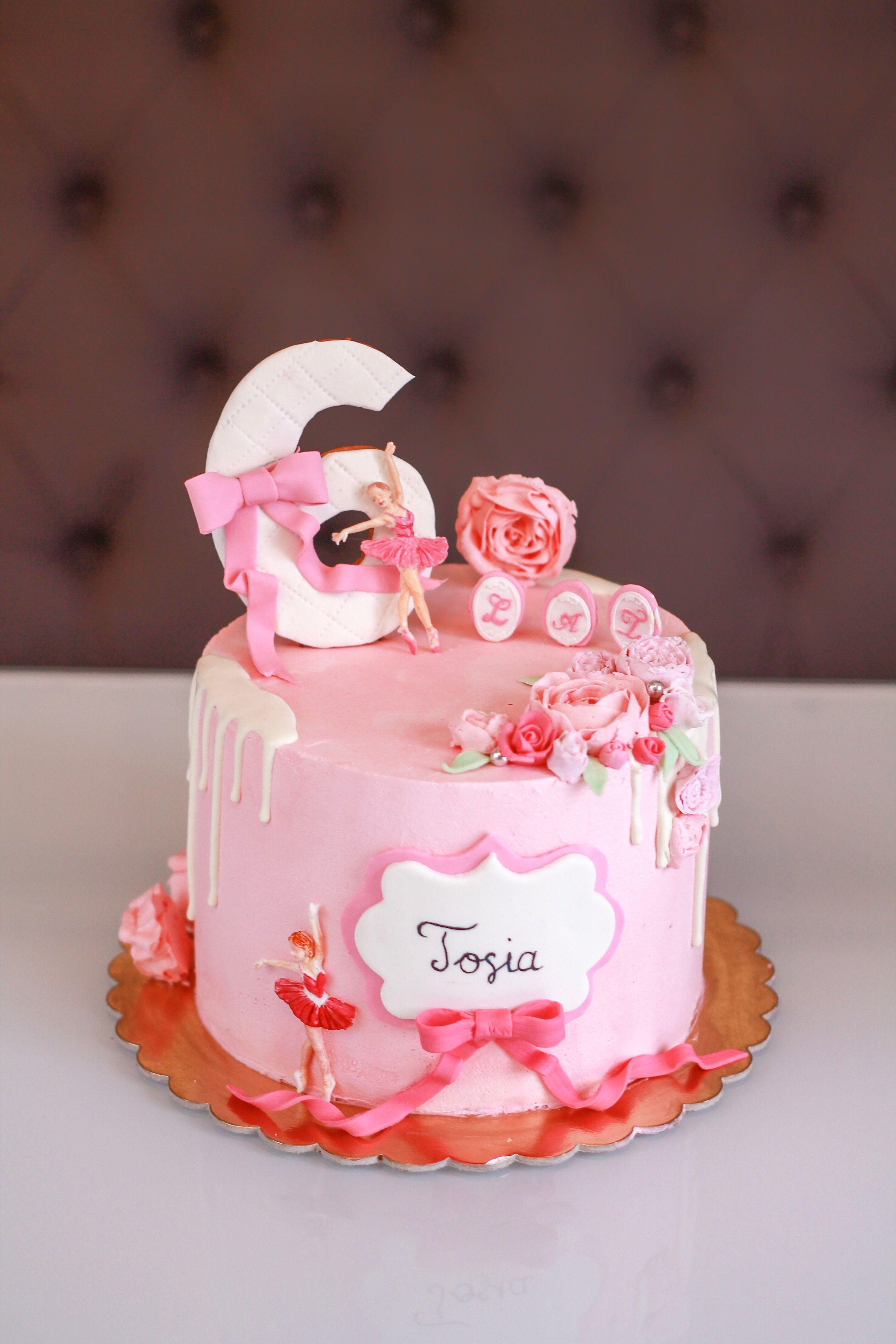 Birthdaycake Tort Tortzbaletnica Ballerina Urodziny Saracino Modelpaste 6lat Flowers Tortdladziewczynki Rozowy Tort Z Baletnica N Cake Food Desserts