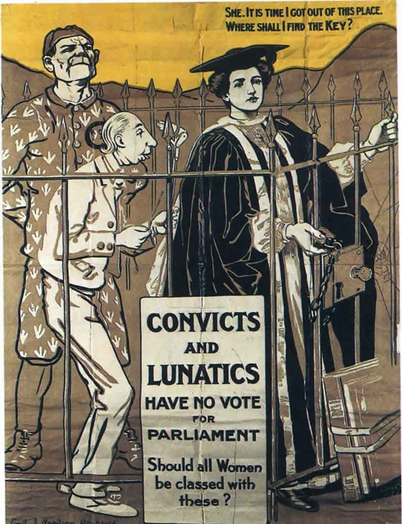 Suffragette Convicts And Lunatics Womans Vote Suffragette Suffrage Suffrage Movement