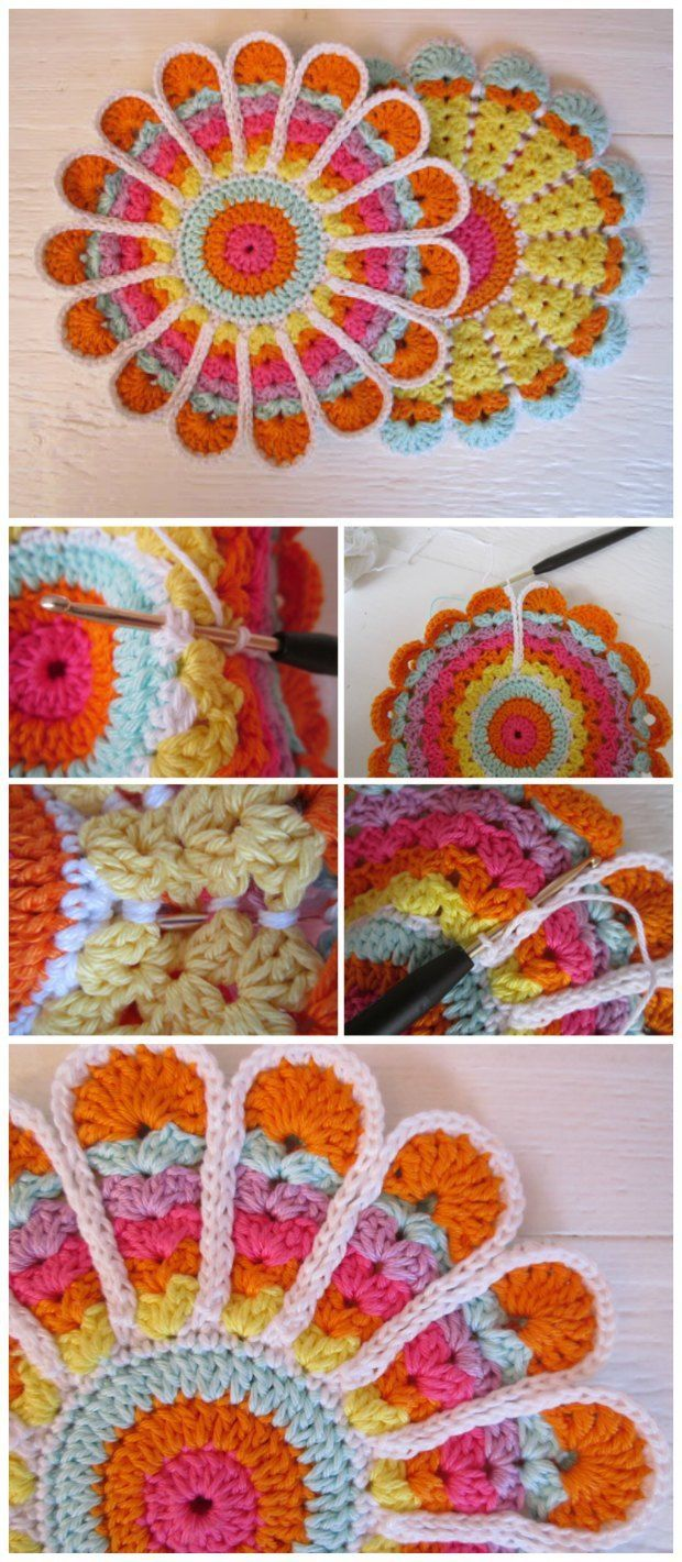 Free crochet pattern for a vintage style potholder or coaster. So ...