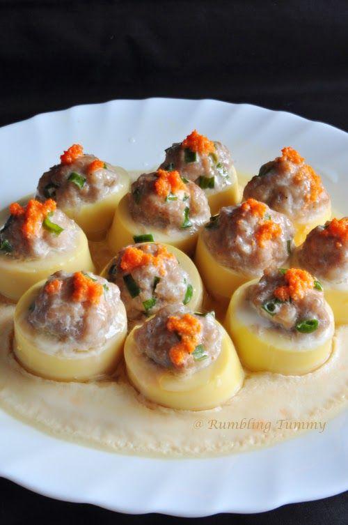 Rumbling Tummy Steam Egg Tofu With Mince Pork