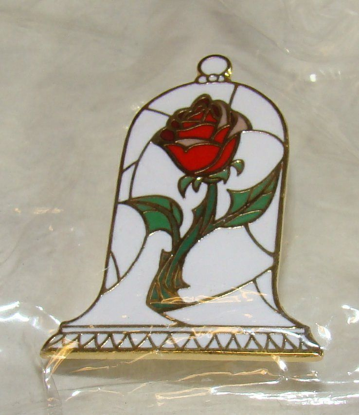 Pin Trading Night Beauty And The Beast Pin: DISNEY Beauty And The Beast Rose In Bell, Trading Pin, New