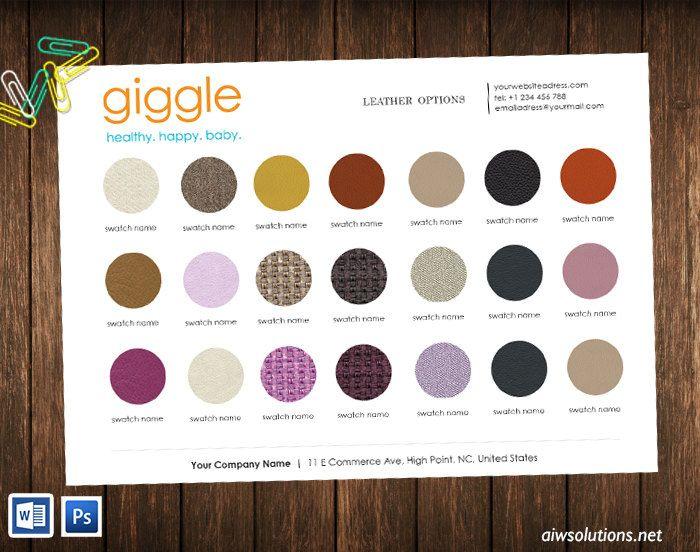 Colour Sheet Template,wholesale Line Sheet With Colour Swatches, Product  Colouru2026