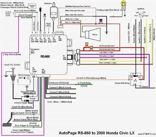 Alarm Wiring Diagram Honda Cars