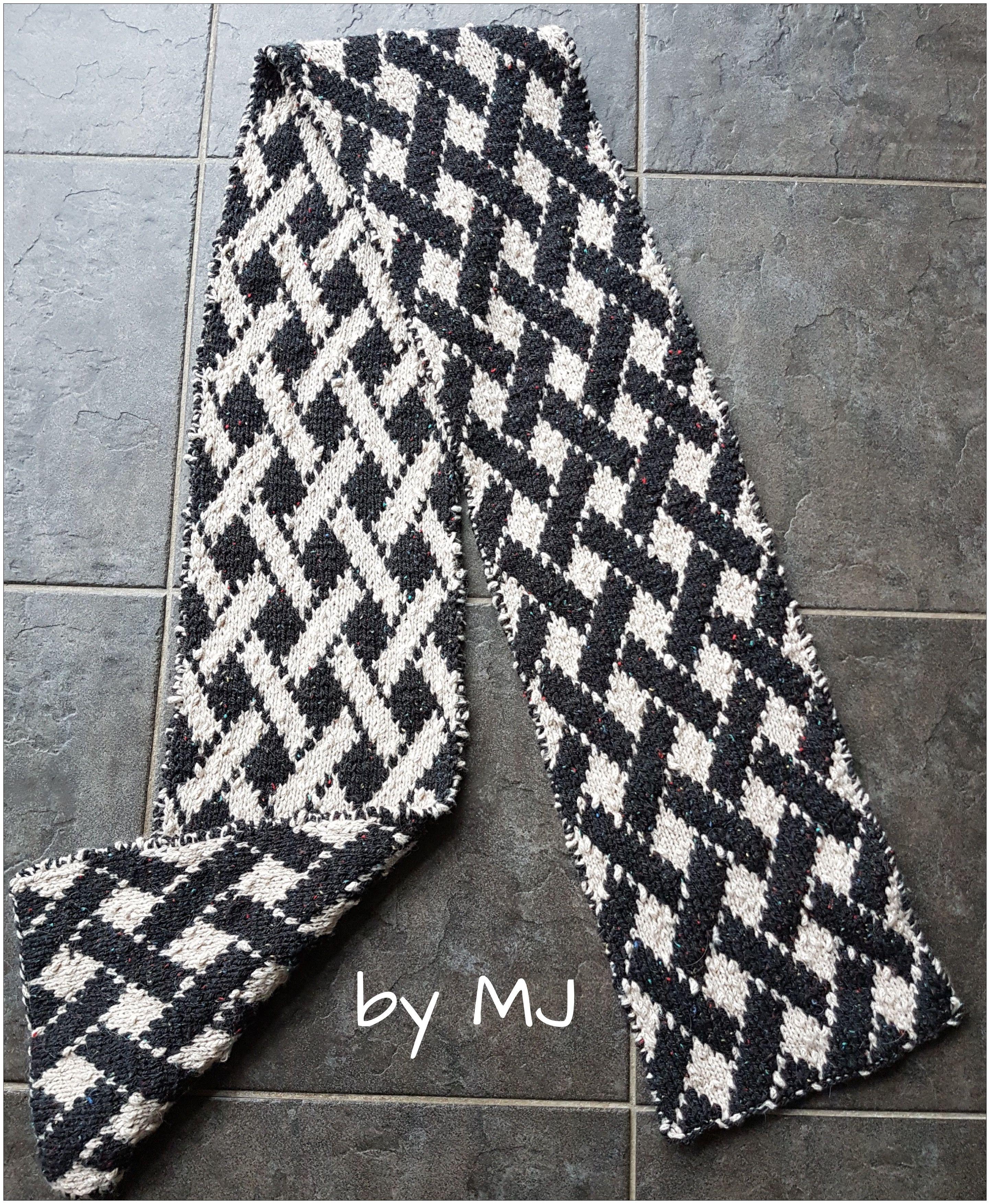 Double Sided Knitting. by MJ free pattern http://jaumatai.jimdo.com ...