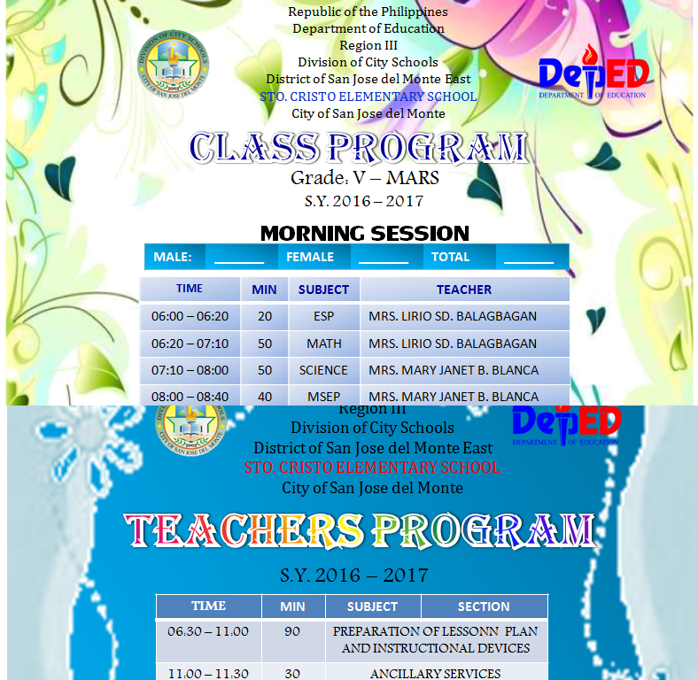 Deped Standard Classroom Design : Free deped lesson plans tg s lm instructional